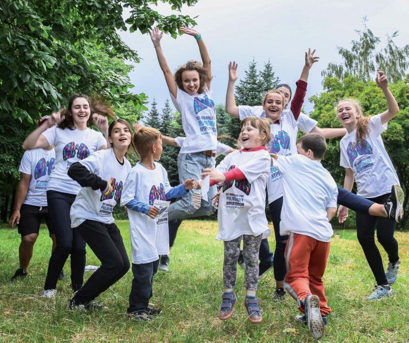Children celebrating World PH Day in Belarus